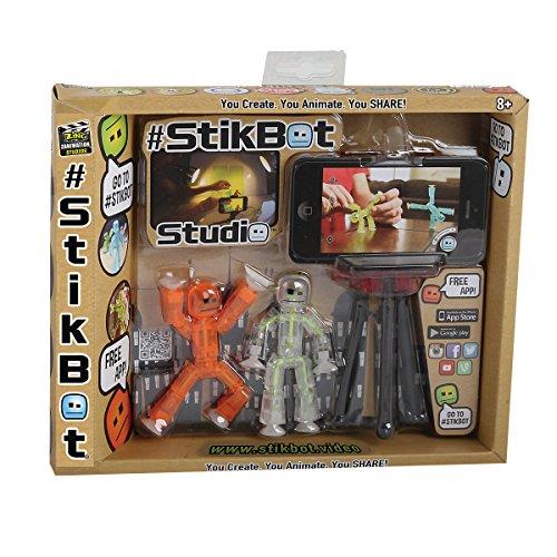 Stikbot - 32880.012 - Loisirs créatifs - Studio d'Animation - 2 figurines et 1 Trépied pour Smartphone 8711808328808
