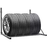porte-pneus (galvanizada, plegable 122x 71x 71cm (L x P x H) para Ranger los neumáticos saisonniers caravanas, los neumáticos de los neumáticos de bicicleta de montaña, color plateado