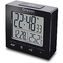 Oregon Scientific RM511 - Reloj despertador digital con repetición snooze, fecha y temperatura interior, color negro