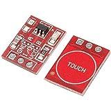 RHDZQ 2pcs TTP223 Tecla Táctil Módulo de Botones Auto o Sin Bloqueo Interruptores Capacitivos