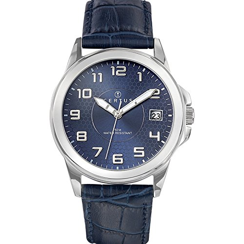 Certus men's Quartz Watch Analogue Display and Leather Strap 610725