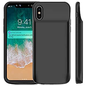 Bovon Coque Batterie iPhone XS / X, 6000mAh Chargeur Portable Batterie Externe Rechargeable