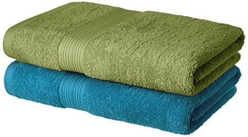 Amazon Brand - Solimo 100% Cotton 2 Piece Bath Towel...