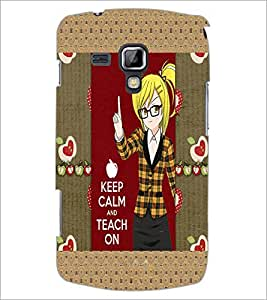 PrintDhaba Girl with Quote D-3021 Back Case Cover for SAMSUNG GALAXY S DUOS 2 S7582 (Multi-Coloured)
