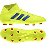 adidas Herren Nemeziz 18.3 FG Fußballschuhe, Gelb Solar Yellow/Football Blue/Active Red, 44 EU