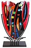 DEPICE Pokal Glas Vase Mosaik, 47 cm
