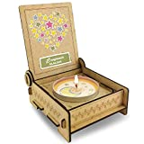 CANDLE in the BOX für Sternenkinder | Trauerkerze in Holzbox mit Spruch | Personalisiert mit Namen | Herz | Gedenkkerze | Andenken