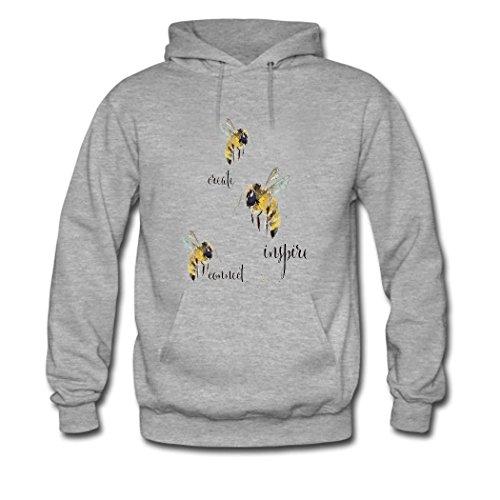 weileDIY Bee DIY Custom Classic Women Hoodie Sweatshirt Gray_A