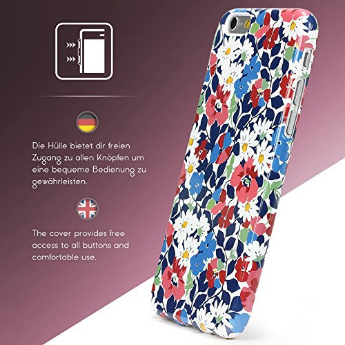 Urcover® Apple iPhone 6 / 6s Hülle mit Blumenmuster Design 4 Handy Schutz-Hülle Floral TPU Cover Schale Flexibel Silikon-hülle Back-Case Handy Smartphone Zubehör Design 5