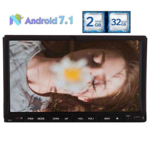2GB 32GB OCTA Kernandroid 7.1 Car Stereo DVD Player- 2 Din im Schlag Bluetooth Radio - Unterstützung GPS Navi, Fast Boot, AV-Ausgang, Subwoofer, 3G 4G WIFI, USD SD, OBD2 Mirrorlink, DVR, CAM-IN