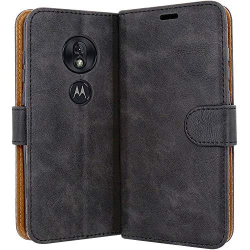 Case Collection Hochwertige Leder hülle für Motorola Moto G7 Play Hülle (5,7
