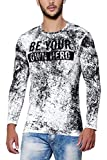 Maniac Men's Cotton T-Shirt (ML-MENS-FS-RN-AOP17-BLACK-BEYOU-S, Black, Small)