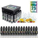 VOVCIG E-líquido, 25 X 10mL E Liquid 70VG / 30PG para Cigarrillos Electrónicos, sin Nicotina