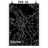 Mr. & Mrs. Panda Poster DIN A5 Stadt Düren Stadt Black -