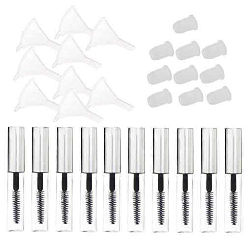 Homyl 10PCS Brosse Applicateur pour Mascara Crème Conteneur Tubes Flacons