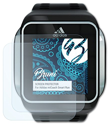 Bruni Adidas miCoach Smart Run Folie - 2 x glasklare Displayschutzfolie Schutzfolie...