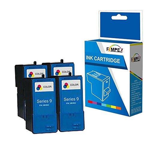 Fimpex Wiederaufbereitet Tinte Patrone Ersatz für Dell All In One 926 V305 V305W MK993H (Tri-Colour, 4-Pack)
