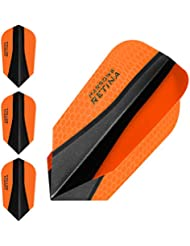 Harrows retina-x Dart Flights – 5 jeux (15) – Extra fort 100 microns – slim – Orange
