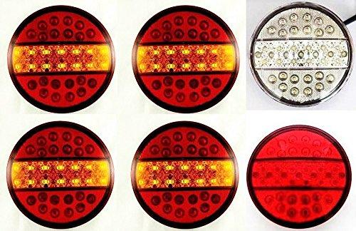 10/x Long LED 12/V 24/V partie arri/ère Rouge Feux de gabarit socle basculant pour ch/âssis de camion remorque caravane van Bus