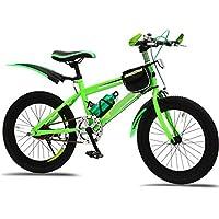 MTB Bicicleta Plegable Bicicleta 18/20/22 Pulgadas Bicicleta Para Niños,Green-
