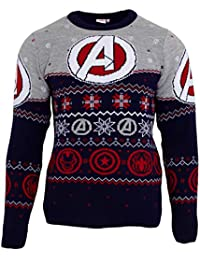 Marvel Avengers - Jersey navideño Estampado con Logotipo Unisex para Adultos