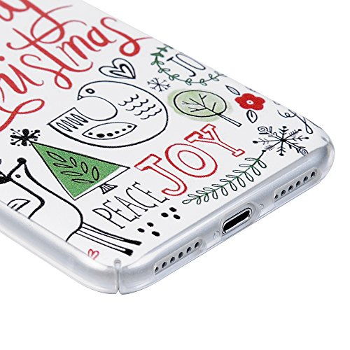 iPhone 7 Hülle iPhone 7 Case YOKIRIN Hartplastik PC Case Cover Hardcase Schutzhülle Handytasche Premium Voll Hemming Transparent Handyhülle Tasche Schale Backcase Skin Muster:Santa Claus Handmalerei