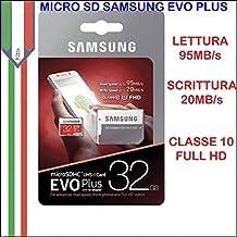 Memoria Memory Card Samsung Evo Plus Micro SD MICROSDHC FHD Classe 10 32gb SDHC UHS-I+ MB-MC32GA/EU