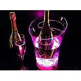 LED resplandor carga portable bar hielo cubo champán vino barril
