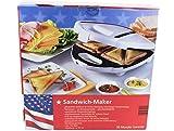 750 W Sandwichmaker Sandwichtoaster Toaster Antihaft Backplatten Bakelit Gehäuse V-Modell