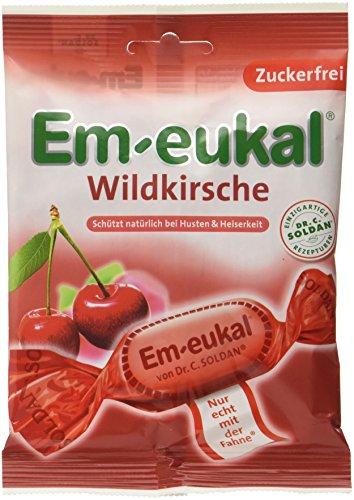 Em-eukal  Wildkirsche zuckerfrei , 10er Pack (10 x 75 g) (Bonbons Zuckerfrei)