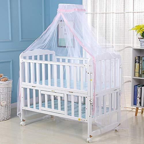 Surakey Moskitonetz Baby Insektenschutz Mückennetz für Kinderbetten Babybetten, Stubenwagen oder und Laufstall, Rosa