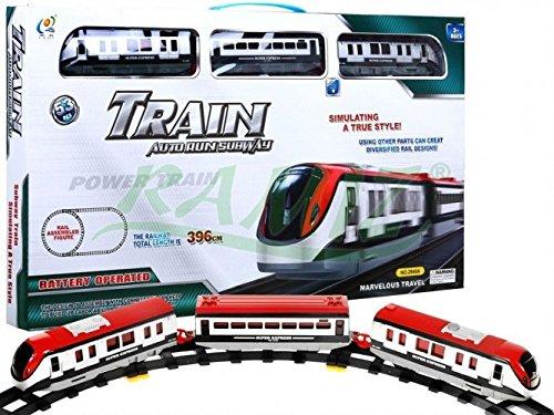 Elektrisch Eisenbahn Set 2 Waggons 396 cm