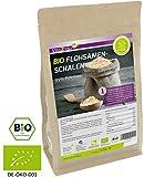 BIO Flohsamenschalen 99% Reinheit 1000g - Zippbeutel - 100% Bio Anbau - 1kg indische Flohsamen Schalen - Premium Qualität