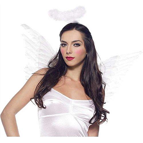 Leg Avenue Unisex Engel Flügel und Halo Standard (Halloween Sport Kostüm Ideen)