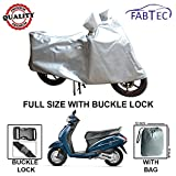 #7: Fabtec Premium Quality Silver Scooty Body Cover With Buckle Lock & Storage Bag For Honda Activa 4G