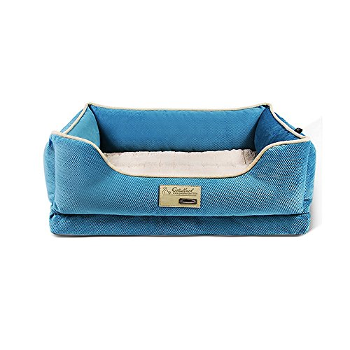 Yxiny casette per cani canile spugna cuccia piccola e media rimovibile e lavabile letto per cani prodotti per animali nido di gatto quattro stagioni (colore : blue, dimensioni : xl)