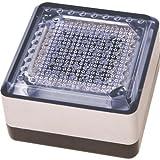 Wartungsfreier Solar Pflasterstein 10x10cm mit LED weiß