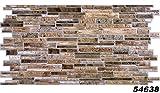 1 PVC Dekorplatte Steindekor Wandverkleidung Platten Wand 98x49cm, 54638