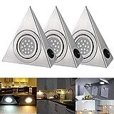 3 luci triangolari da cucina per armadio, armadio, armadio, armadio, luce a LED portatile da parete per camera Warm White