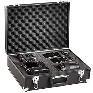 brubaker alukoffer fotokoffer mit schaumstoff 20 l kamera. Black Bedroom Furniture Sets. Home Design Ideas