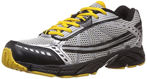 Nivia Men's Black, Silver and Yellow Mesh Running Shoes - 6 UK/India (39 EU)(7 US)(115)  available at amazon for Rs.699