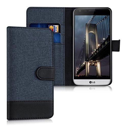 kwmobile LG G5 / G5 SE Hülle - Kunstleder Wallet Case für LG G5 / G5 SE mit Kartenfächern und Stand