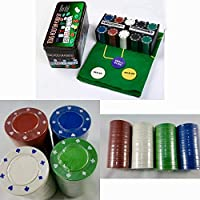 ADEPTNA Professional Casino Style 200 Piece Texas Hold'em Poker Game Play Set -Comes in Tin Box