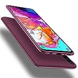 X-level für Samsung Galaxy A70 Hülle, [Guardian Serie] Soft Flex Silikon Premium TPU Echtes Telefongefühl Handyhülle Schutzhülle Kompatibel mit Galaxy A70 Case Cover - Weinrot