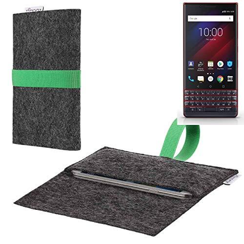 flat.design vegane Handy Hülle Aveiro für BlackBerry Key 2 LE Dual-SIM passgenaue Filz Tasche Case Sleeve Made in Germany