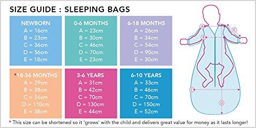 Schlummersack Mädchen Schlafsack in rosa 0.5 Tog für den Sommer 130cm/3-6 Jahre - Little Birdie
