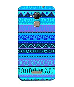 PrintVisa Seamless Retro Spiral 3D Hard Polycarbonate Designer Back Case Cover for Coolpad Note 3