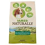 Iams natürlich Hund mit Neuseeland Lamm und Reis, komplette und ausgewogene Hundefutter mit natürlichen Inhaltsstoffen, 3x 2,7kg