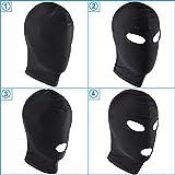 Knechtschaft Fetisch Maske Kopfmaske Strecken Maske BDSM Sexspielzeug (2-Augen aussetzen)