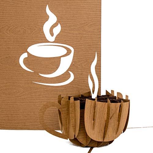 """Pop Up Karte\""""Coffee Cup\"""" - Kaffeetasse - Gutschein, Geburtstagskarte, Geschenkgutschein & Einladung zum Kaffee, Kaffeeklatsch"""